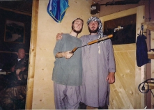 Bukovica, BiH, in 1995 in the barracks of the 737 Muslimanska Brigada, Sedmi Korpus, Armje BiH, during the war. Ismail Royer on the left, a Bosnian soldier on the right.